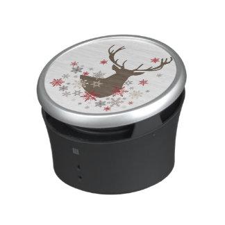 modern vintage rustic deer and snowflakes speaker
