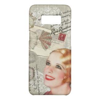 modern vintage seashell french scripts Paris girl Case-Mate Samsung Galaxy S8 Case
