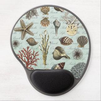 Modern Vintage Seashells Gel Mouse Mat