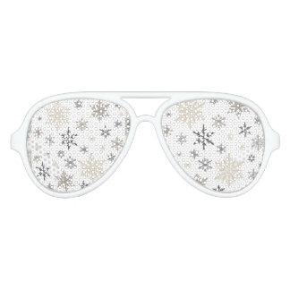 modern vintage snowflakes aviator sunglasses