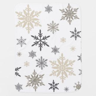 modern vintage snowflakes baby blanket