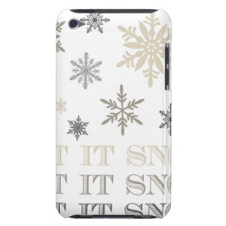modern vintage snowflakes iPod touch cover