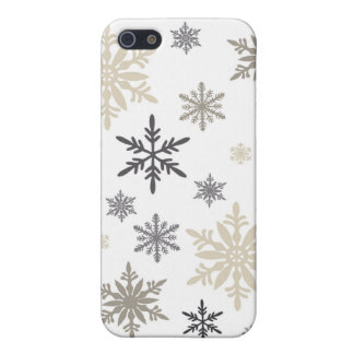 modern vintage snowflakes cover for iPhone 5/5S