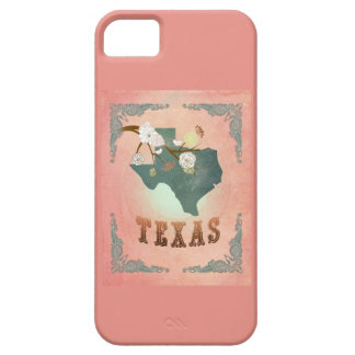 Modern Vintage Texas State Map- Pastel Peach iPhone 5 Cover