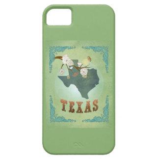 Modern Vintage Texas State Map – Sage Green iPhone 5 Case