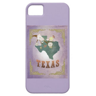 Modern Vintage Texas State Map- Sweet Lavender iPhone 5 Cover