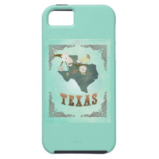 Modern Vintage Texas State Map – Turquoise Blue iPhone 5 Cover