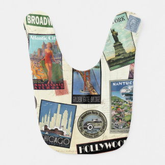 Modern Vintage Travel USA Bib
