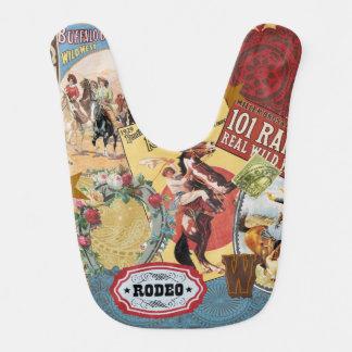 modern vintage western cowgirl bib