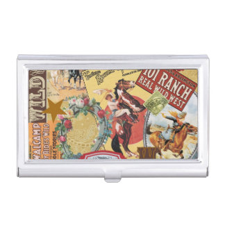 modern vintage western cowgirl business card cases