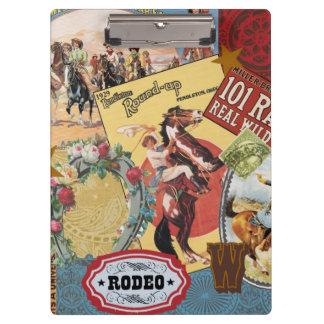 modern vintage western cowgirl clipboard