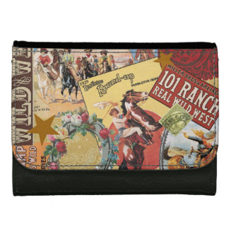 modern vintage western cowgirl leather wallet for women