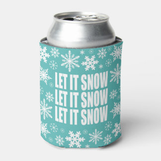 modern vintage whimsical snowflakes can cooler