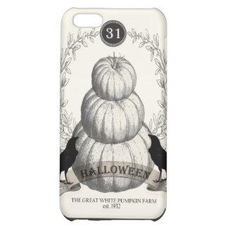 modern vintage white pumpkins iPhone 5C cases