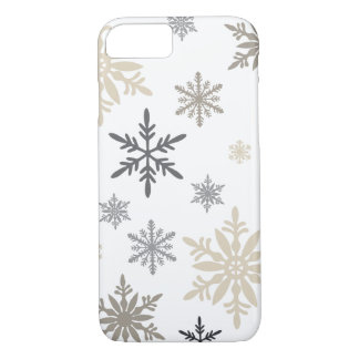 Modern Vintage winter snowflakes iPhone 8/7 Case