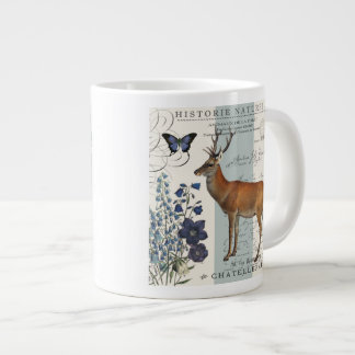 modern vintage woodland deer giant coffee mug