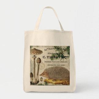 modern vintage woodland hedgehog