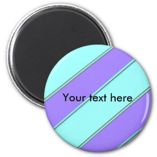 Modern violet blue diagonal stripes magnets