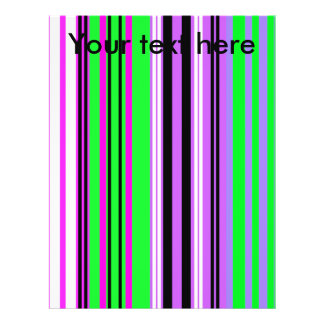 Modern violet pink and purple stripes personalized flyer