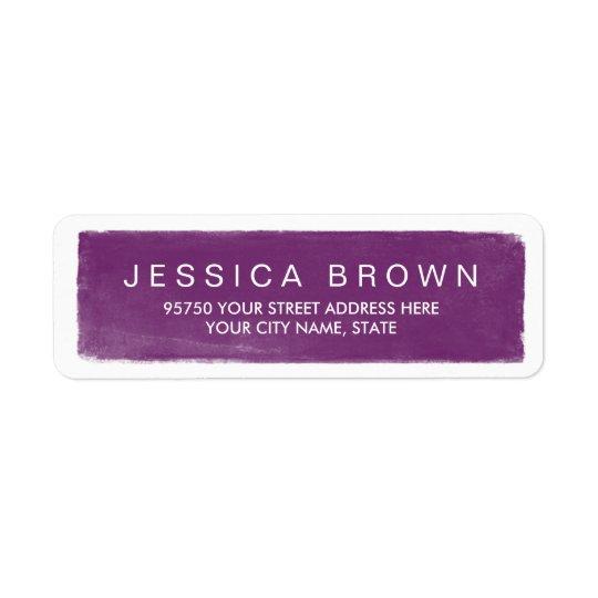 Modern Violet Purple Chalkboard Address Label