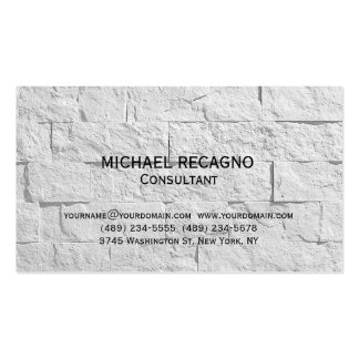 Modern Wall Brick Consultant Business Card