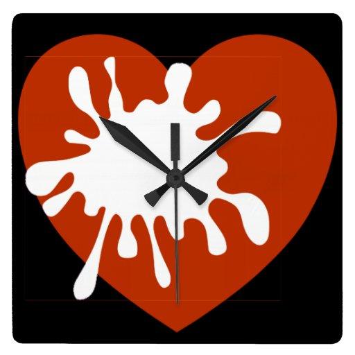 Modern wall clock african design of spreading love zazzle for Modern wall clocks south africa