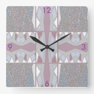 Modern Wall Clock-Home Decor- Mauve/White/Grey Wall Clock