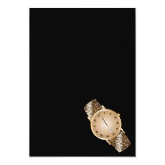 Modern watch 13 cm x 18 cm invitation card