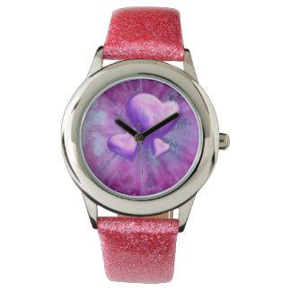 Modern watch for girls flirty pink  strap