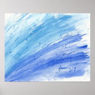 Modern Water Color Splash Fine Art Poster