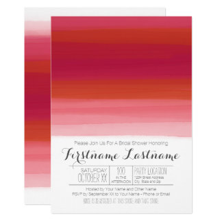 Modern Watercolor Abstract Bridal Shower Card