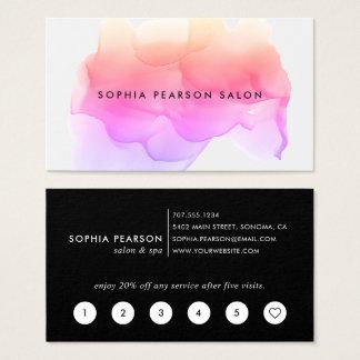 Modern Watercolor Blot | Loyalty Business Card