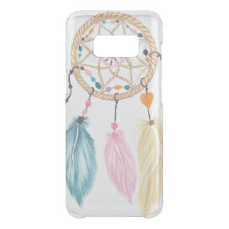Modern watercolor boho dreamcatcher feathers uncommon samsung galaxy s8 case