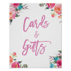 Modern Watercolor Floral | Cards and Gifts Wedding Poster