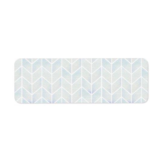 Modern watercolor pastel mint chevron pattern return address label