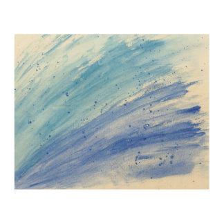 Modern WaterColor Splash Wood Art Canvas Wood Print
