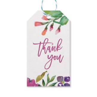MODERN WATERCOLOR THANK YOU Gift Tags