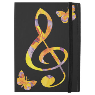 """Modern watercolor treble clef and butterflies iPad pro 12.9"""" case"""