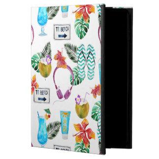 Modern Watercolor Tropical Beach Pattern Powis iPad Air 2 Case