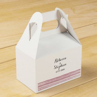 Modern Watercolor Wedding Favor Box