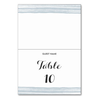 Modern Watercolor Wedding Table Place Card