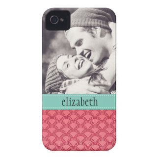 Modern Waves Pattern Photo Personalized iPhone 4 Case-Mate Cases