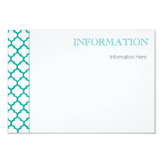 Modern Wedding info card with Moroccan Pattern