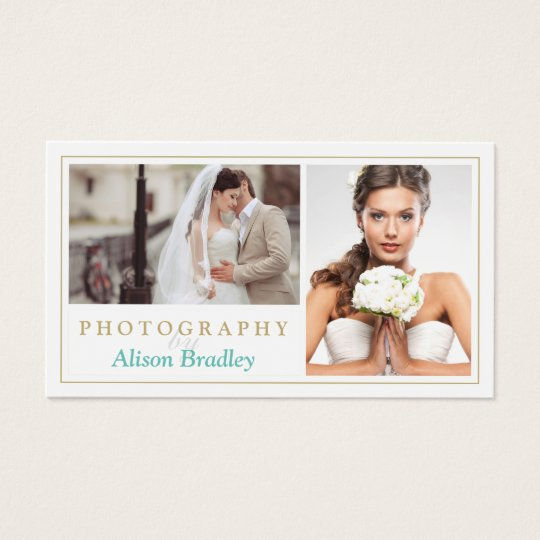 Modern Wedding Photography Studio Elegant Stylish Business Card
