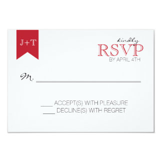 Modern Wedding reply card with Moroccan Pattern 9 Cm X 13 Cm Invitation Card