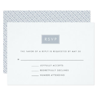 Modern Wedding RSVP Card | Slate