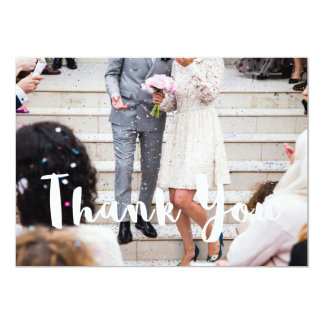 Modern Wedding Thank Your Card