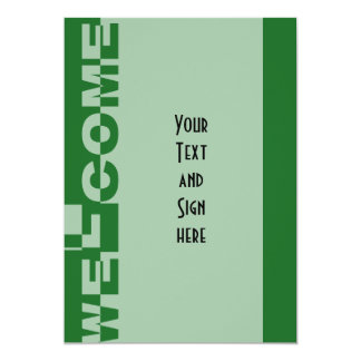 Modern WELCOME Banner + your backgr. & ideas 13 Cm X 18 Cm Invitation Card