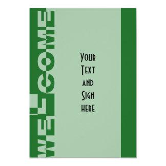 Modern WELCOME Banner + your backgr. & ideas 13 Cm X 18 Cm Invitation Card