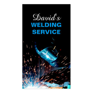 Modern Welding Service and Metal Fabrication Photo Pack Of Standard Business Cards